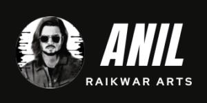 Anil Raikwar Arts Logo Black