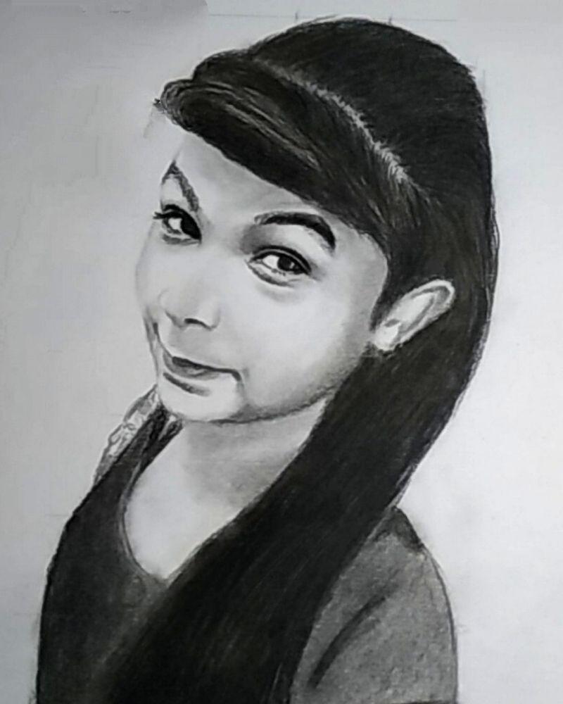 Cute Girl Sketch - Anil Raikwar Arts