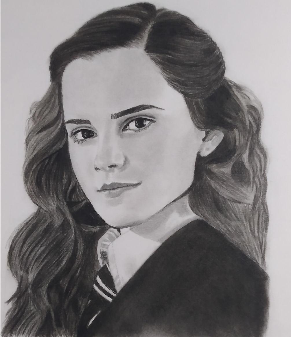 Pencil Sketches, Pencil sketch of Hermione Granger
