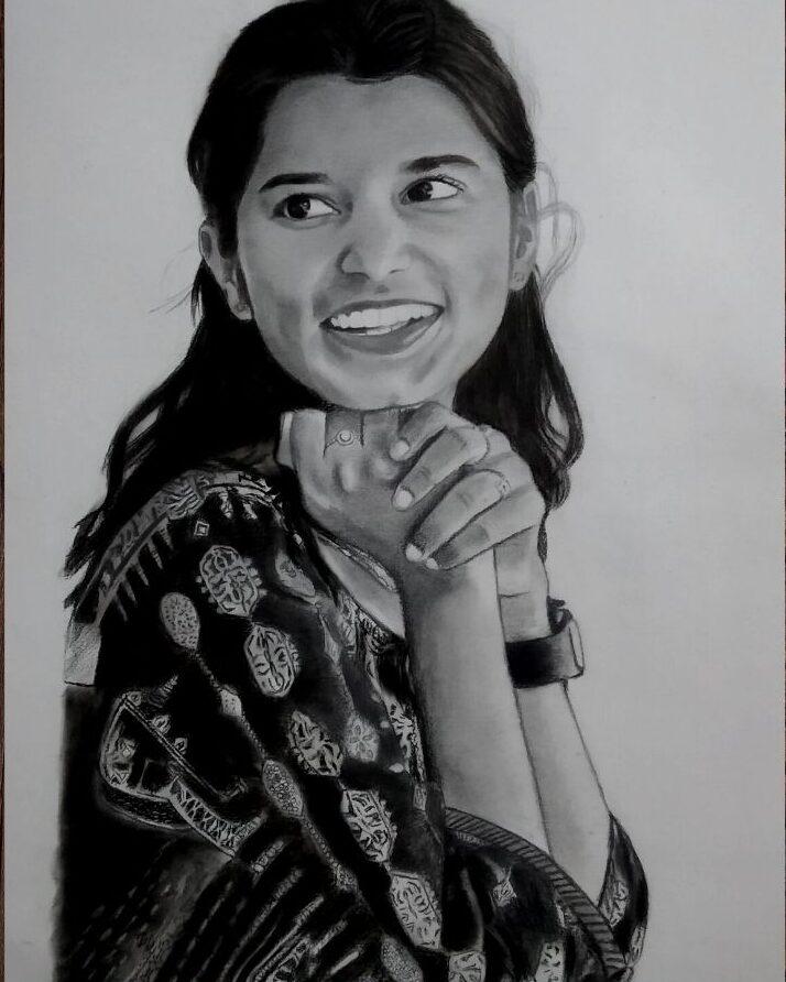charcoal Pencil Sketch A3 Size