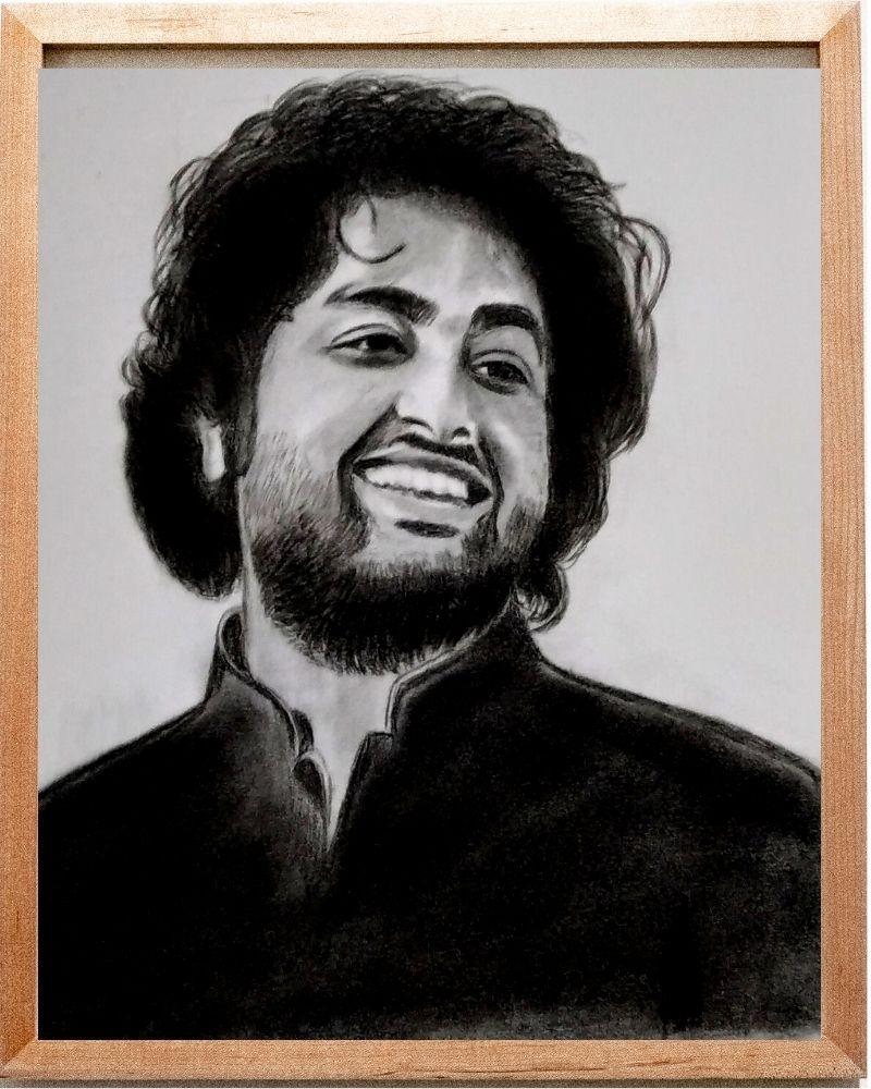 Charcoal Pencil Sketch - Anil Raikwar Arts
