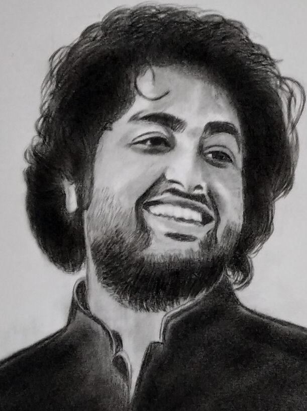 Arijit Singh Pencil Sketch